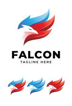 Falcon Logo Template AI, EPS