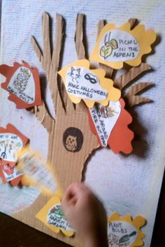 DIY Fun Fall Activities Tree - Leaves fall as you do each activity on this fall activity tree