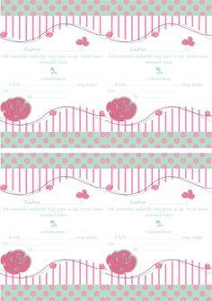 Baga Kreatív oldala: Rózsás szülinapi meghívó - Ingyen letölthető minta