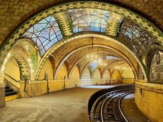 It might seem impossible to find vaulted ceilings and chandeliers in a NYC subway stop. But that wasn't the case in 1904, when this Rafael Guastavino-designed station opened directly below City Hall. Unfortunately, commuters chose speed over style, so the stop closed in 1940, as the Brooklyn Bridge station grew. Today, Transit Museum members can tour the station, and some passengers might get a lucky viewing: Take the downtown 6 at Brooklyn Bridge and try to catch a glimpse as the  train…