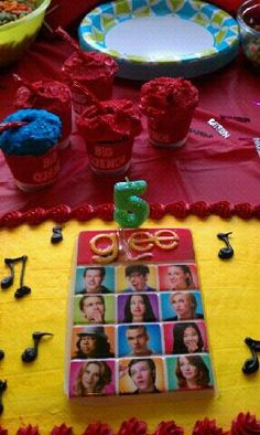Glee party. Cake topped from amazon.