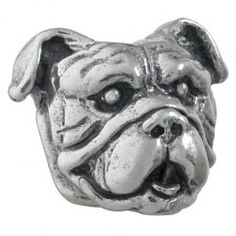 #EnglishBulldog - Bark Beads, $79.95, 925 Sterling Silver, Compatible with Trollbeads, Pandora, and Chamilia bracelets, Hand-crafted in the USA, Available at ANDREW GALLAGHER JEWELERS, Newark, DE 302-368-3380
