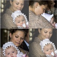 Crown Princess Victoria with her goddaughter Diana Ensälll. Diana is the daughter of Andrea Brodin - one of Victoria's childhood friends- and Niclas Engsäll.