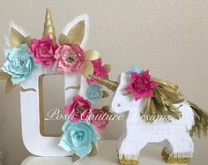 Decoraciones unicornio / unicornio cartas / unicornio primer