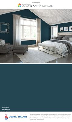 I found this color with ColorSnap® Visualizer for iPhone by Sherwin-Williams: Rainstorm (SW 6230).