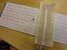 Kirjanmerkit (1lk). Book Binding, Crafts To Do, Art Lessons, Bookmarks, Little Ones, Hand Sewing, Needlework, Bullet Journal, Textiles