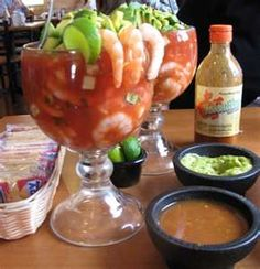 Shrimp cocktail - ooh, ooh, yes! gave this a 4 out of 5 stars not bad. Shrimp Dishes, Fish Dishes, Mexican Dishes, Shrimp Recipes, Fish Recipes, Mexican Food Recipes, Appetizer Recipes, Great Recipes, Favorite Recipes