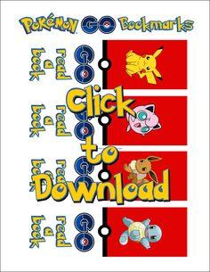 Pokemon GO Lunch Bookmark Printable Download