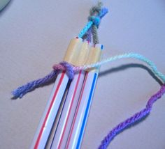 revised Lesson 9  Here is the tutorial for straw weaving