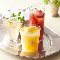 Good Housekeeping: Strawberry Iced Tea - make the ice cubes out of tea so it doesn't dilute the drink.
