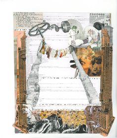 Schriftspuren 2010 Collagen, Collages