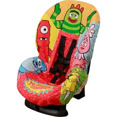 Yo Gabba Gabba - Car Seat Cover - I think Morgan and Riley need these for my car!  Cute!  They would LOVE them...LOL