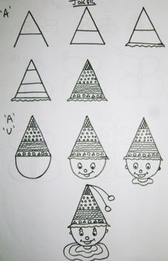 Here you will find some very easy drawing instructions using only alphabet letters to make it easier for children.