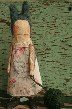 Rabbit-ear doll. That hat. --julie arkell
