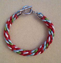 4 colour kumihimo bracelet by Jewellery by Janine https://www.facebook.com/JewelleryByJanine