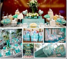 tableau con cupcakes | matrimonio tema tiffany