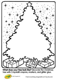 The Best Places to Find Printable Christmas Tree Coloring Pages: Create Your Own Christmas Tree Coloring Page at Crayola