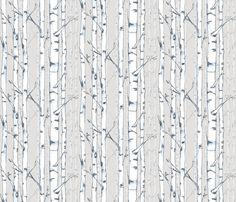 Birch fabric by lanagibson on Spoonflower - custom fabric