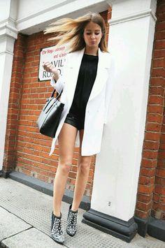 Millie Mackintosh.  #style #fashion #blackandwhite