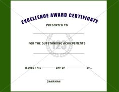 certificate of excellence 01 pinterest certificate teacher and