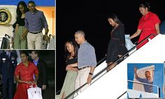 The Obamas arrived on Friday night at Joint Base Pearl Harbor-Hickam for their annual vacation in Oahu. Obama jetted off after his final press conference on Friday.