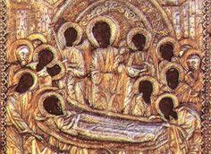 Η εμφάνιση του Μύρου στην Παναγία Μαλεβή την τελευταία Παρασκευή των Χαιρετισμών Holy Spirit, Painting, Saints, Angel, Icons, Holy Ghost, Painting Art, Symbols, Paintings