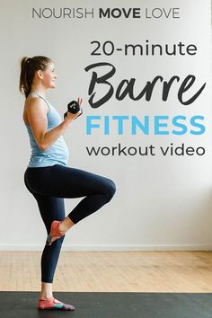 Get the studio experience at home with this FREE BARRE CLASS workout video! This low-impact, high-intensity workout uses ballet-inspired moves to build long lean muscle + burn fat! Barre Workout Video, Barre Exercises At Home, Cardio Barre, Home Workout Videos, 20 Minute Workout, Toning Workouts, At Home Workouts, Free Workout, Fitness Exercises