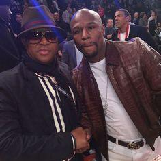 Fikile Mbalula with Floyd Mayweather