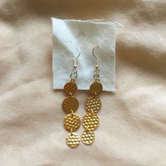 These beautiful hammered gold circle earrings are the perfect statement piece for your everyday outfit. Amazing reflective gold disks create beautiful movement when you walk. Earrings are about 2 inches long. Circle Earrings, Drop Earrings, Hammered Gold, Everyday Outfits, All Things, Buy And Sell, Handmade, Stuff To Buy, Etsy