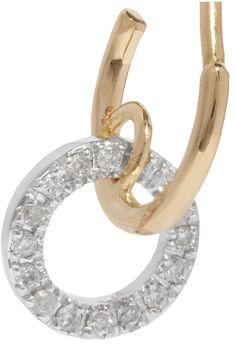 Loop 14-karat Gold Diamond Earring - one size Maria Black GJfWJzCq