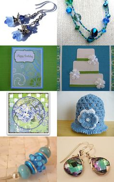 Blues and Greens Promo Swap -- by HairFlair11.etsy.com