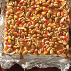 Trick or Treat Salted Nut Bars,, I love mixing the nuts and corn,,, how can this be bad???!!!!