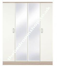 Coral Bay 4 Door Mirrored Wardrobe