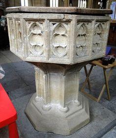 Martock, Somerset | 15th century font
