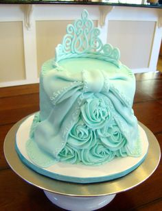 Buttercream Iced Cake With Fondantmodeling Chocolate Bow And Trim ...