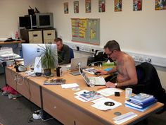 So today is National 'Working Naked Day'... Someone in the office has decided to get fully into the spirit of things, good job we've got the heating on!