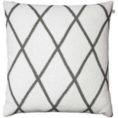 Ikat Orissa tyynynpäällinen, valkoinen/harmaa ryhmässä Tekstiilit / Viltit & Koristetyynyt / Koristetyynyt @ ROOM21.fi (131493)