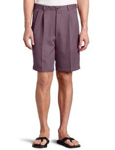0fde062843 Haggar Men`s Cool 18 Gabardine Hidden Expandable Waist Pleat Front Short -  List price