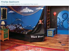 Another good idea for a kid's pirate room... definitely more work but how much fun would THIS room be!