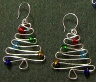 """Wire Christmas Tree earrings/orniments"""" data-componentType=""""MODAL_PIN"""