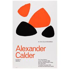 Reproduced 1960s Alexander Calder exhibition poster at the Tate Shop