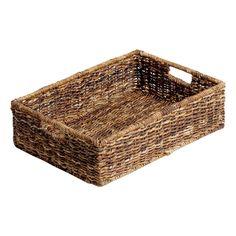 Abaca Rectangular Under the Bed Basket - Large