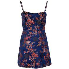 Realisation par Emilie dress by Realisation Par ❤ liked on Polyvore featuring dresses, blue color dress and blue dress