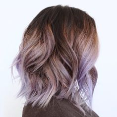 50 Hottest Balayage Hairstyles for Short Hair - Balayage Hair Color Ideas - Frauen Haare - Lilac Hair Purple Balayage, Hair Color Balayage, Haircolor, Brown Balayage, Balayage Bob, Hair Colorist, Lavender Highlights, Pastel Highlights, Fall Highlights