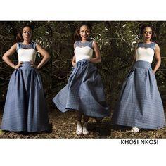 Khosi Nkosi @  YDE African Print Fashion, Tribal Fashion, African Fashion Dresses, African Prints, Traditional Fashion, Traditional Dresses, Traditional Weddings, African Attire, African Dress