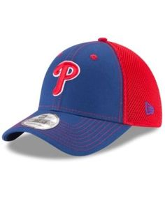 New Era Philadelphia Phillies Team Front Neo 39THIRTY Cap - Red L/XL