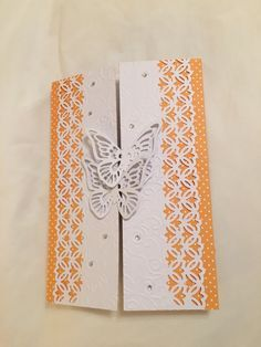 Cards - Butterflies dots snd punched borders | Sandi | Pinterest