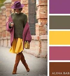 The Truly Classy and Bright Color Combination Ideas for Fashionable Fall Looks.