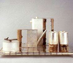 Birch-wood Coffee Set  Designer: Andrea Branzi