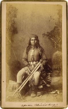 American Indian Art:Photography, PRAISE (?), CHIRICAHUA APACHE. . c. 1884. ...
